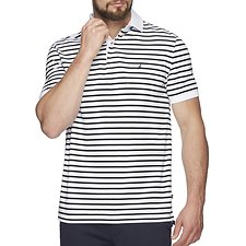 Image of Nautica BRIGHT WHITE SHORT SLEEVE ANCHOR STRIPE POLO
