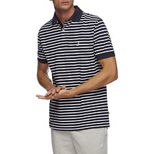 Image of Nautica NAVY SHORT SLEEVE ANCHOR STRIPE POLO