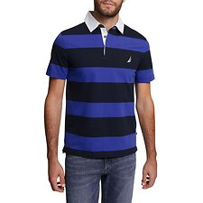 Image of Nautica NAVY YARN DYED STRIPE POLO