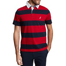 Image of Nautica NAUTICA RED YARN DYED STRIPE POLO