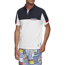 Image of Nautica  BLUE SAIL TECH BLOCKED POLO