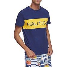 Image of Nautica BLUE DEPTHS NAUTICA BLOCKED CREW NECK TEE