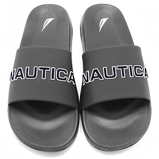 Image of Nautica GREY NAUTICA SLIDES