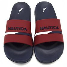 Image of Nautica NAVY/ RED NEW SPORT SLIDES