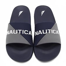 Image of Nautica GREY/NAVY NEW SPORT SLIDES