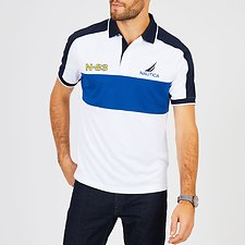 Image of Nautica BRIGHT WHITE N-83 FLAG SHORT SLEEVE POLO SHIRT