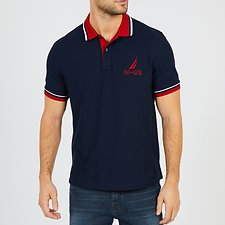 Image of Nautica NAVY N-83 SHORT SLEEVE POLO SHIRT