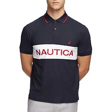 Image of Nautica NAVY COLOURBLOCK PERFORMANCE POLO