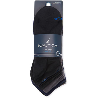 Image of Nautica  NAUTICA 6PK LOWCUT SUPERSOFT SOCKS