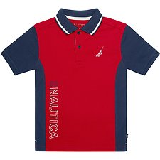 Image of Nautica RED ROUGE BOYS NAUTICA 83 HERITAGE POLO