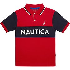 Image of Nautica RED ROUGE BOYS BILLBOARD HERITAGE POLO