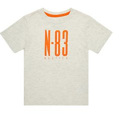 Image of Nautica OAT HEATHER BOYS N83 GRAPHIC TEE