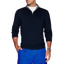 Image of Nautica NAVY Big & Tall 1/4 ZIP SWEATER