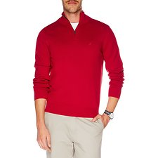 Image of Nautica NAUTICA RED Big & Tall 1/4 ZIP SWEATER