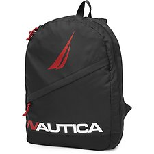 Image of Nautica BLACK DIAGONAL ZIP N STRIKE BACKPACK