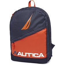 Image of Nautica RED DIAGONAL ZIP THE BRIGHT STRIKE BACKPACK