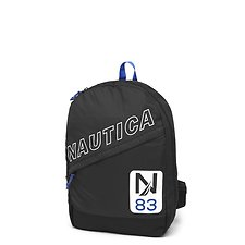 Image of Nautica BLACK DIAGONAL ZIP N 83 SLANT BACKPACK