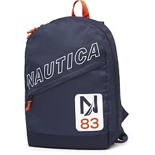 Image of Nautica NAVY DIAGONAL ZIP N 83 SLANT BACKPACK