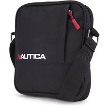 Image of Nautica BLACK NAUTICA RACER LOGO CROSS BODY BAG