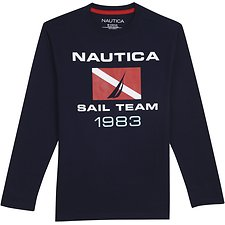 Image of Nautica  SAILING 83 LONG SLEEVEGRAPHIC TEE