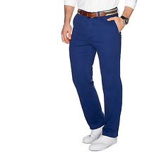 Image of Nautica ESTATE BLUE CLASSIC FIT FLAT FRONT PANT