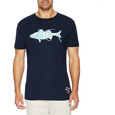 Image of Nautica MARINE BLUE Big & Tall  Short Sleeve Fishing Graphic Tee