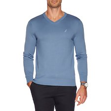 Image of Nautica RIVIERA BLUE V-neck sweater