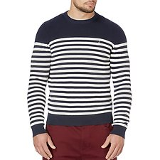 Picture of Crew neck Breton stripe sweater