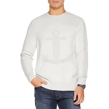 Picture of CREW NECK TONAL ANCHOR SWEATER