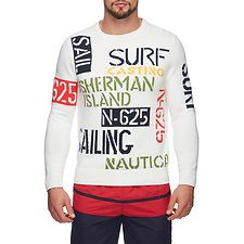 Image of Nautica MARSHMALLOW INTARSIA SWEATER