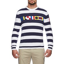 Picture of INTARSIA CHEST  STRIPE SWEATER