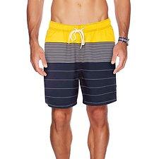 Picture of 18 Inch Full Elastic Waist Multi-Stripe Swim Shorts