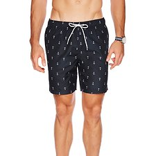 Picture of 18 INCH ANCHOR PRINT ELASTIC WAIST SWIM SHORT