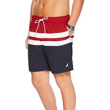 Picture of 18 INCH FULL ELASTIC COLOUR BLOCK SWIM SHORT