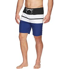 "Image of Nautica CALYPSO BLUE 19"" TRI COLOURBLOCK SWIM"
