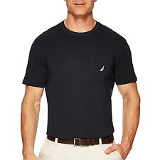 Image of Nautica TRUE BLACK LOGO POCKET T-SHIRT