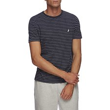 Image of Nautica NAVY SHORT SLEEVE CLASSIC STRIPE T-SHIRT