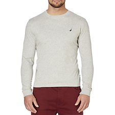 Image of Nautica GREY HEATHER CLASSIC FIT LONG SLEEVE TEE