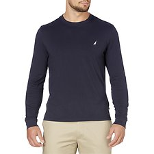 Image of Nautica NAVY CLASSIC FIT LONG SLEEVE TEE