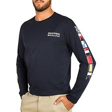 Picture of NAUTICA 83 SAILING 83 FLAG LONG SLEEVE TEE