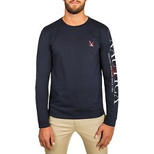 Image of Nautica NAVY 83 SAILING HERITAGE LONG SLEEVE TEE