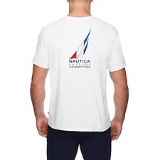 Image of Nautica BRIGHT WHITE SAILING COMPETITION TRICOLOUR TEE