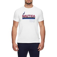 Image of Nautica BRIGHT WHITE Underline J Class 83 short sleeve TEE