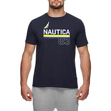 Image of Nautica NAVY Underline J Class 83 short sleeve TEE