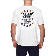 Image of Nautica BRIGHT WHITE NAUTICA COMPETITION ROUND FLAG TEE