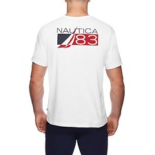 Image of Nautica BRIGHT WHITE RECTANGLE 83 short sleeve TEE