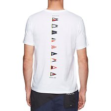 Image of Nautica BRIGHT WHITE BACK LINE FLAG TEE