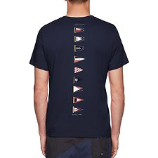 Image of Nautica NAVY BACK LINE FLAG TEE