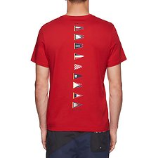 Image of Nautica NAUTICA RED BACK LINE FLAG TEE - UNISEX