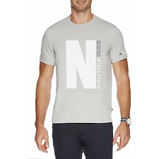 Image of Nautica GREY HEATHER THE BIG N SHORT SLEEVE TEE